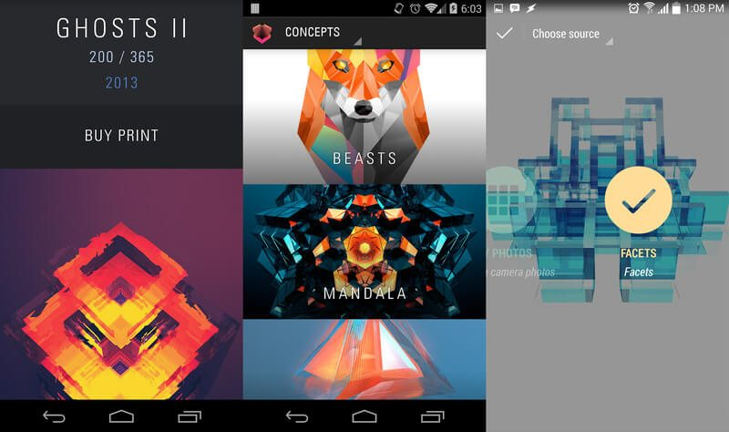 Top 5 Best Wallpaper Apps For Android 2015 -Facets