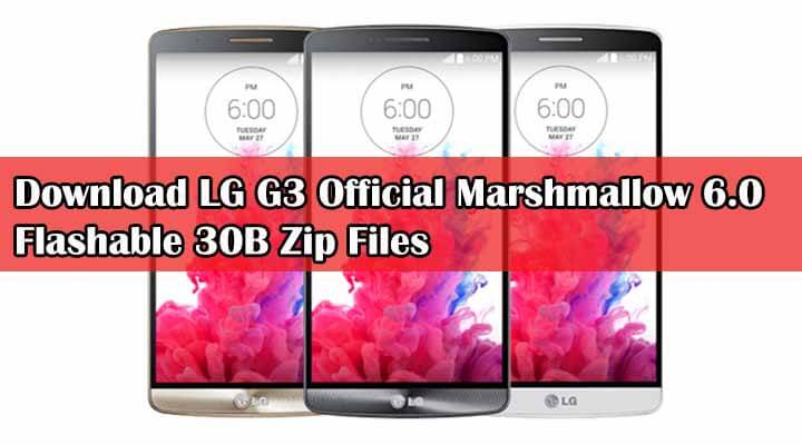 LG G3 Official Marshmallow