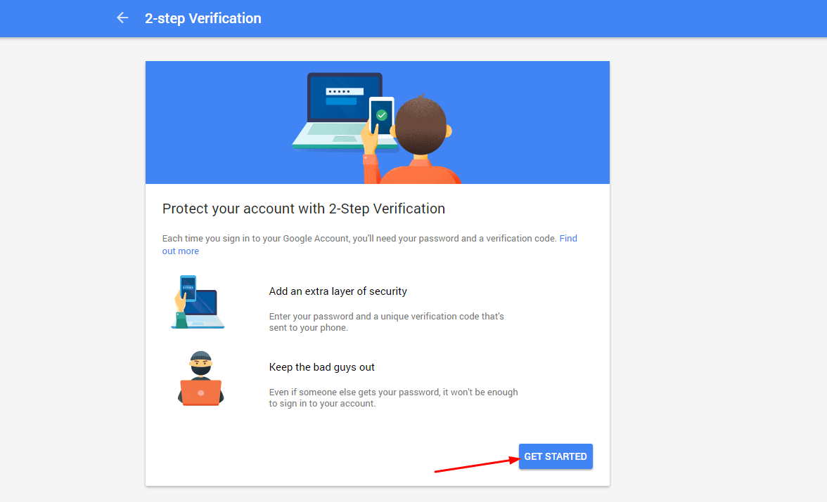 Start 2-Step Verification