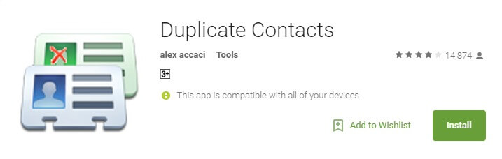 Duplicate Contacts   Android Apps on Google Play