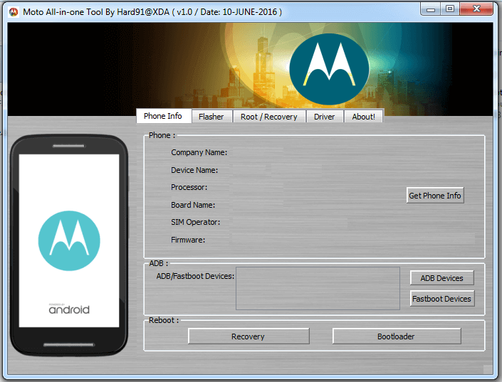 Download Moto AIO Tool: Flash Stock ROM, TWRP, Unlock/Relock