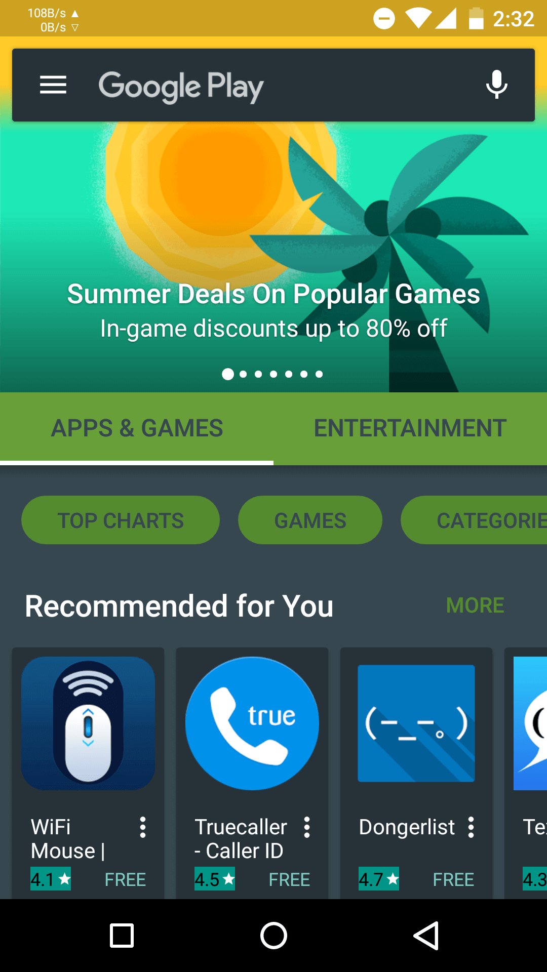 Open Playstore