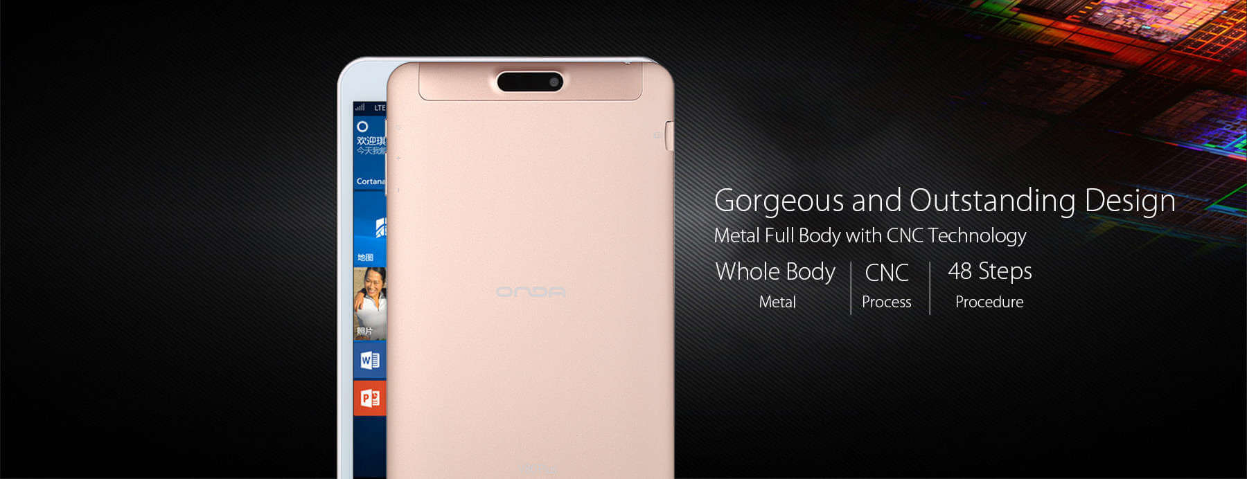 Onda V80 Plus Metal design body