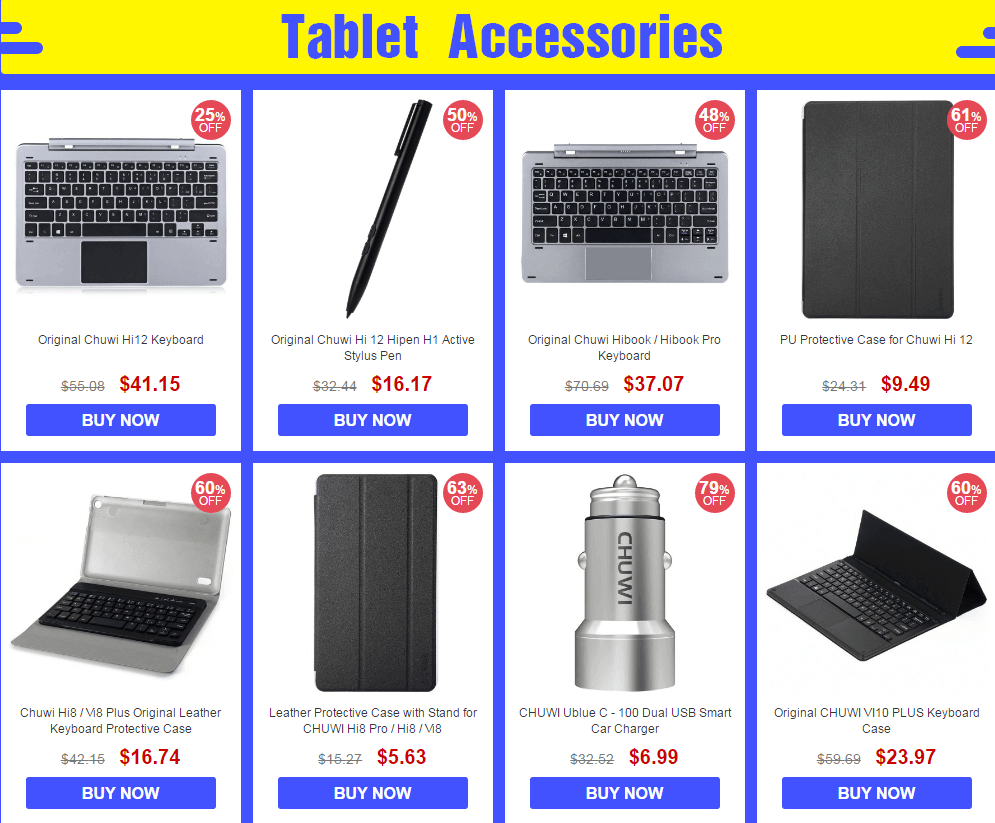 Tablet Accessories Chuwi Brand Sale
