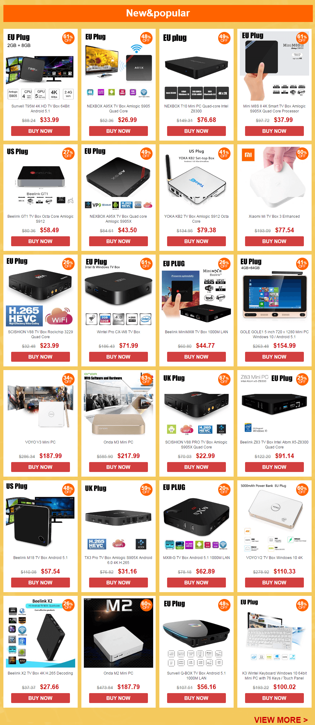 Best Tv-box sale gearbest