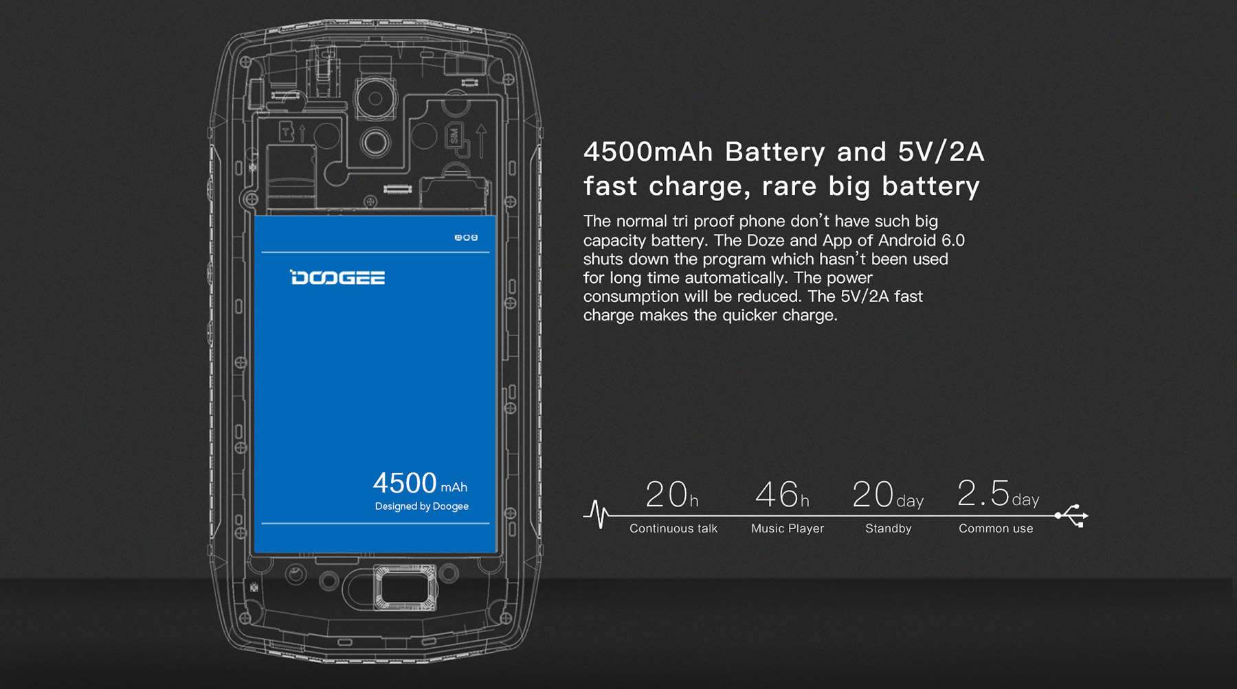 doogee-t5-battery