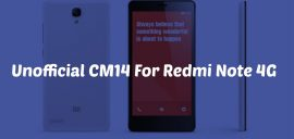 Download & Install CM14 Nougat ROM On Redmi Note 4G Android 7.0