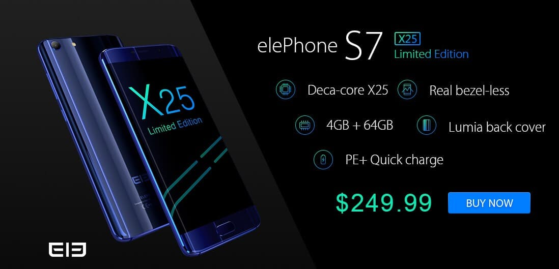 Elephone S7 X25 Special Edition Short Review and Sale