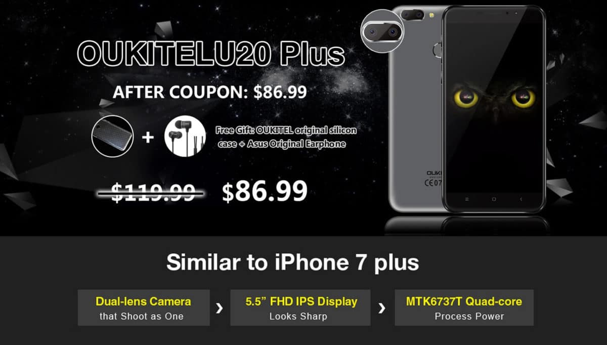 OUKITEL U20 Plus Deals