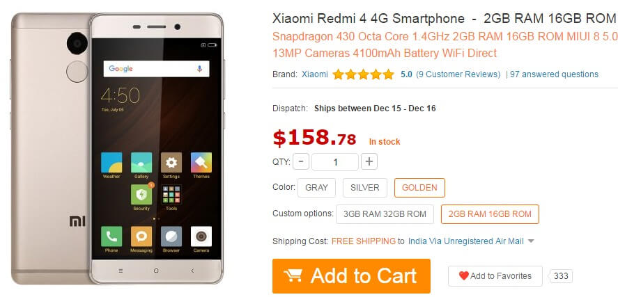 Xiaomi Redmi 4 4G Smartphone Review and Deals