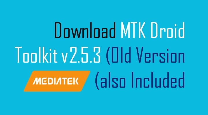 V2.5.3 TÉLÉCHARGER MTK DROID ROOT TOOLS