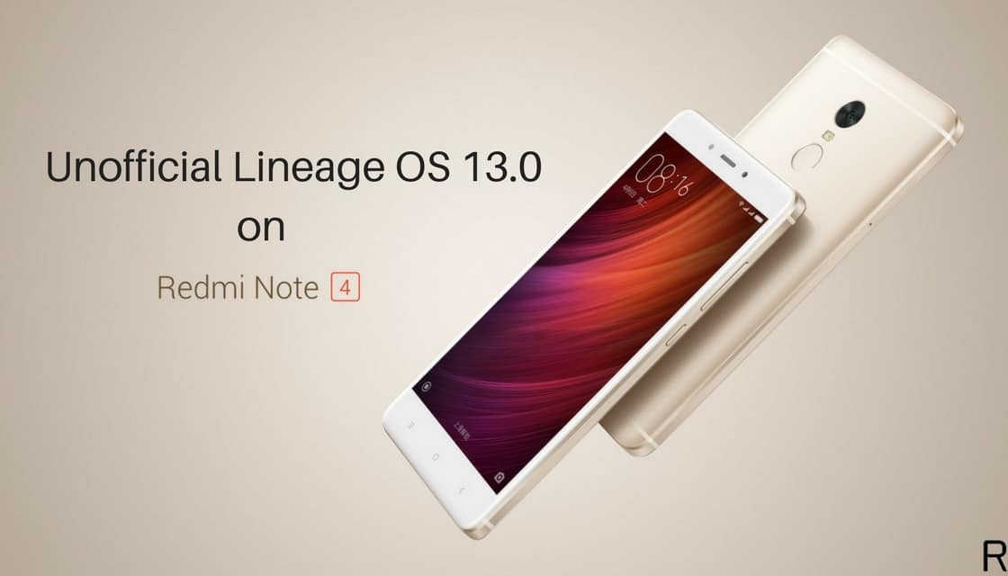 Lineage OS 13.0 on Xiaomi Redmi Note 4