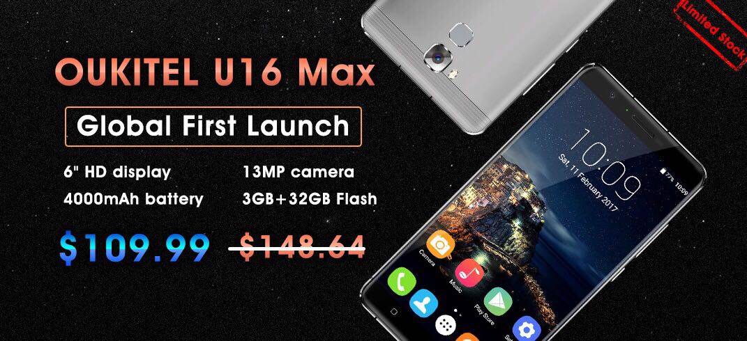 OUKITEL U16 Max Global First Launch