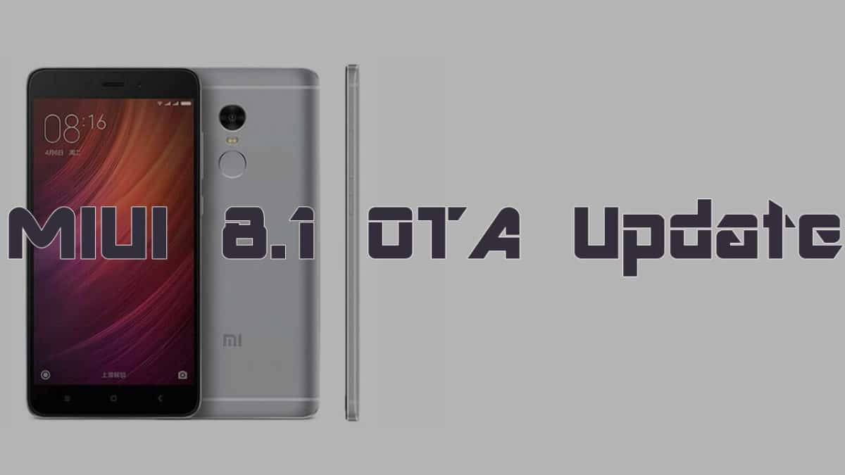 Download and Install Redmi Note 4 MIUI 8.1 Update (Qualcomm)