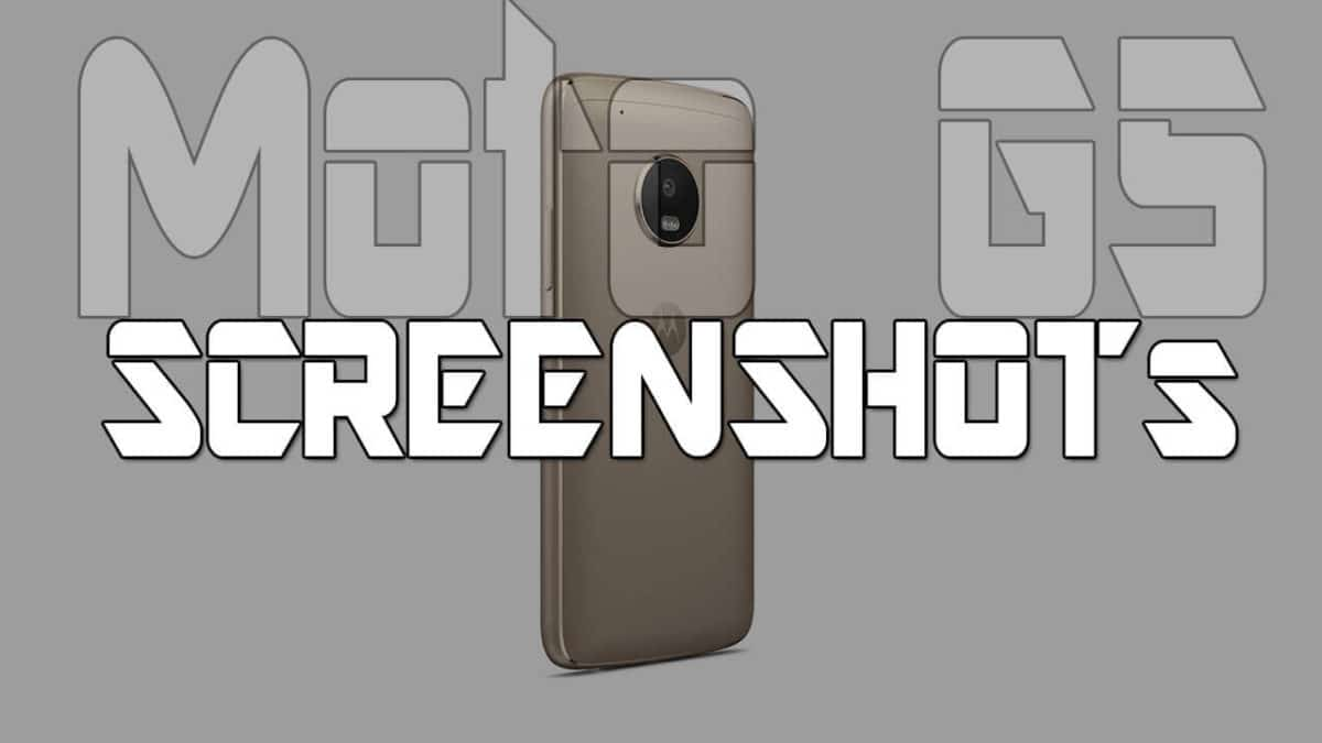 How To Take Screenshots On Moto G5 And G5 Plus