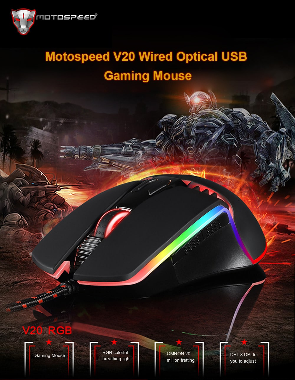 Motospeed Keyboard and Mouse Promotional Sale