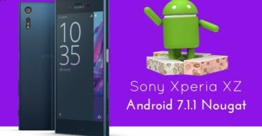 Android 7.1.1 Nougat on Sony Xperia XZ