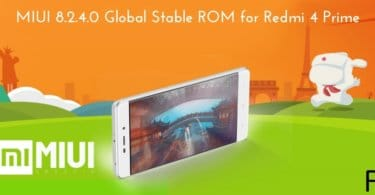 MIUI 8.2.4.0 Global Stable ROM for Redmi 4 Prime