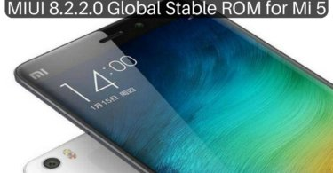 MIUI 8.2.2.0 Global Stable ROM on Mi 5