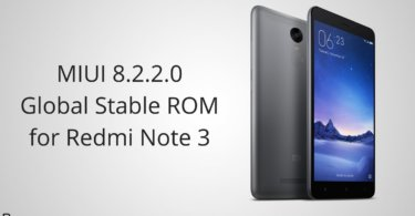 MIUI 8.2.2.0 Global Stable ROM on Redmi Note 3