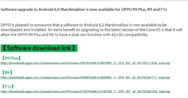 Oppo's Marshmallow update