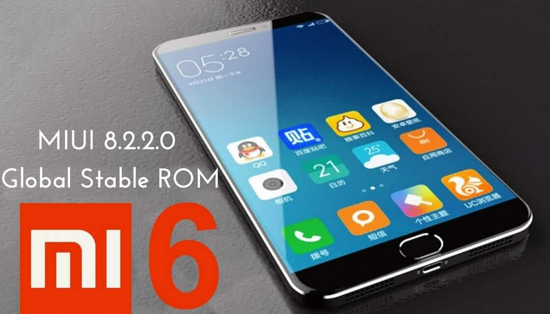 MIUI 8.2.2.0 Global Stable ROM on Mi 6