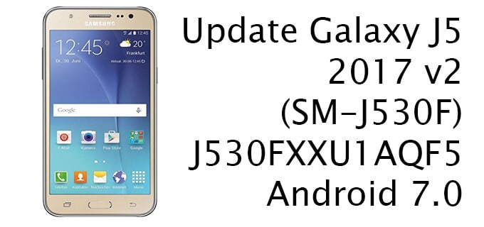 Update Galaxy J5 to Android Nougat