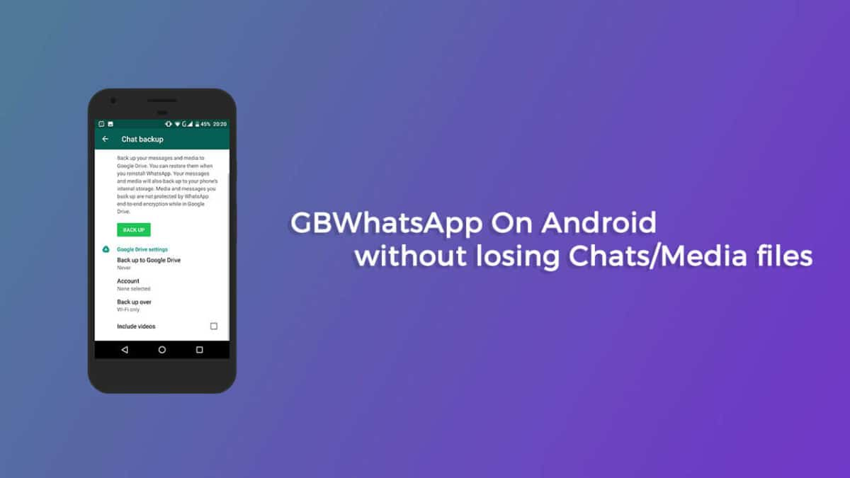 GBWhatsApp On Android without losing Chats