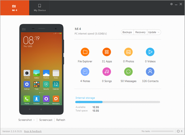 Download Latest Xiaomi PC Suite v.3.2.1.3111_2717