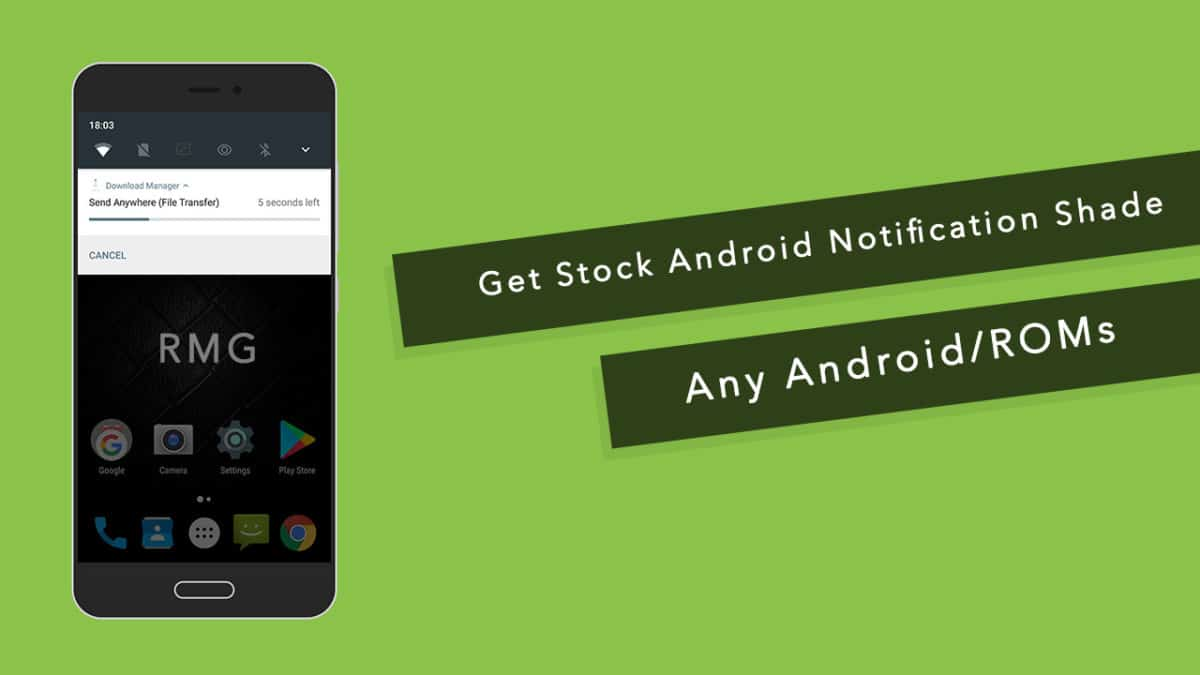 Get Stock Android Notification Shade