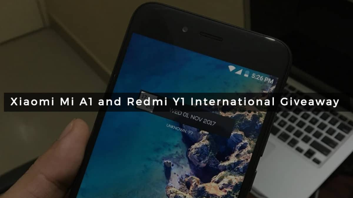 Main: Xiaomi Mi A1 and Redmi Y1 International Giveaway