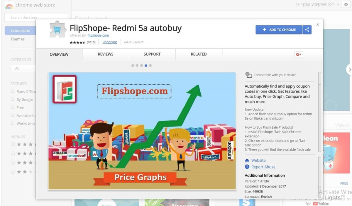 Flipshope Chrome Extension