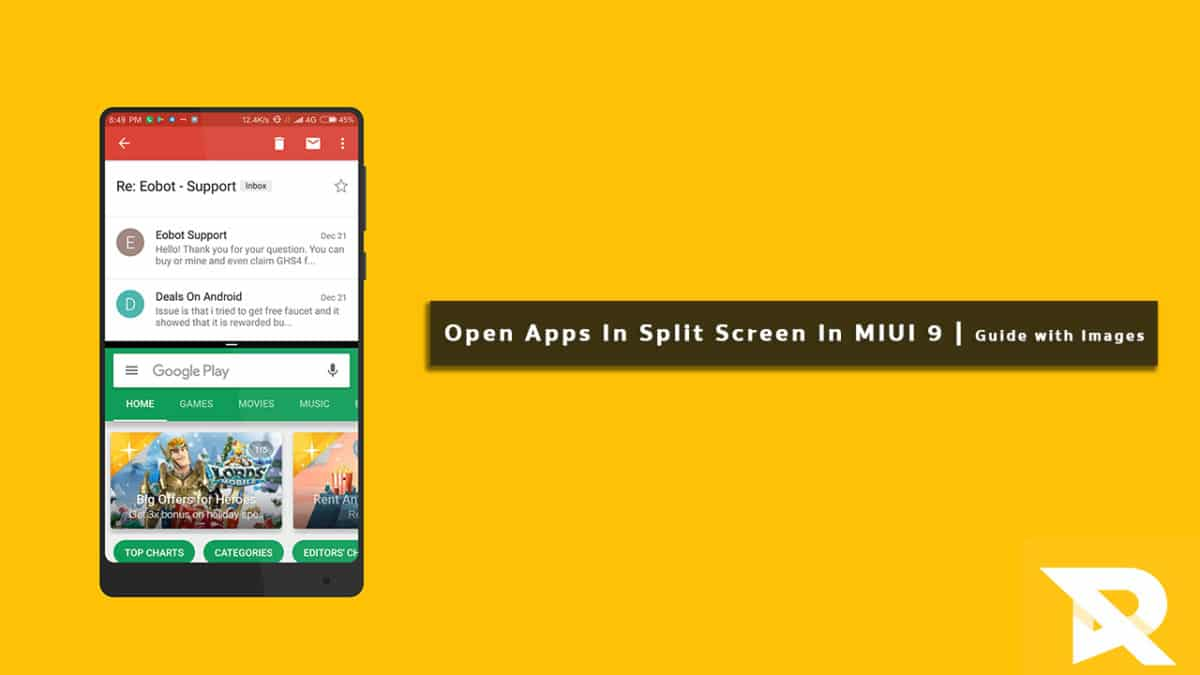 How To Open Apps In Split Screen In MIUI 9 (Guide with Images)