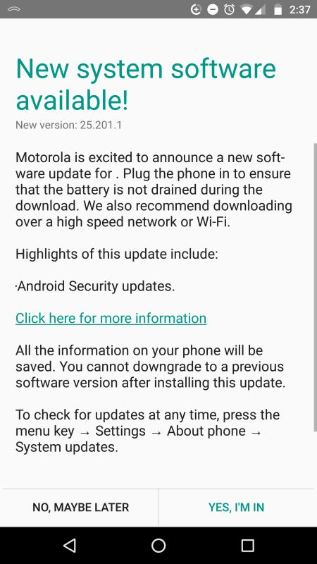 Moto X Pure Edition gets October 2017 Patch OTA