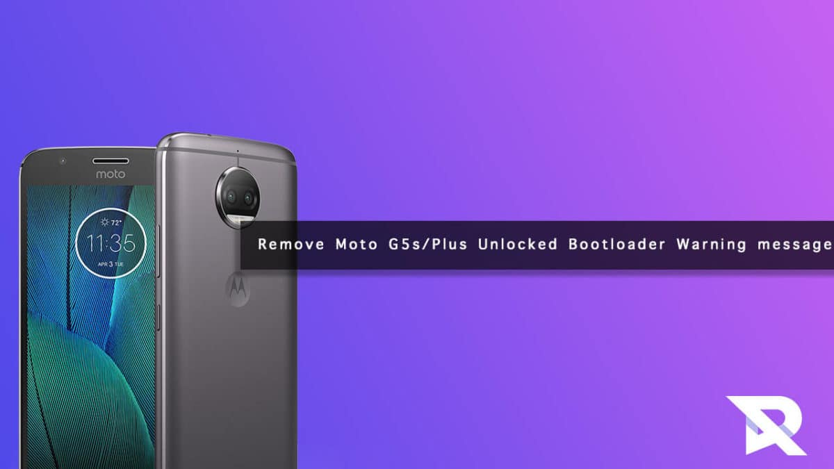 How to Remove Moto G5s/Plus Unlocked Bootloader Warning Message