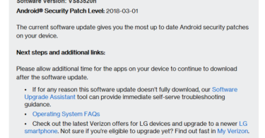 Verizon LG Stylo 2 V VS83520h February 2018 Security Patch (OTA Update)