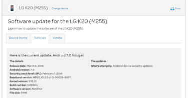 AT&T LG K20 M25510r February 2018 Security Patch (OTA Update)