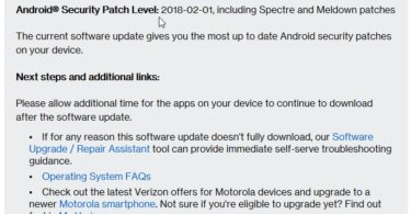 Verizon Moto E4 Prepaid NDQ26 69-64 January 2018 Security Patch