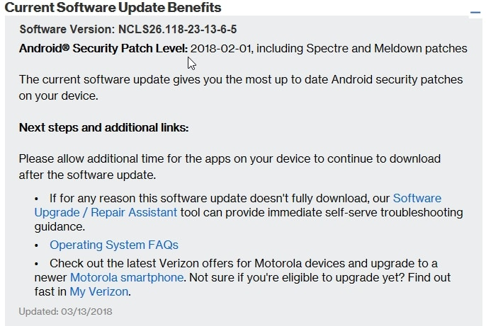 Verizon Moto Z and Z Force [Droid] NCLS26 118-23-13-6-5 February