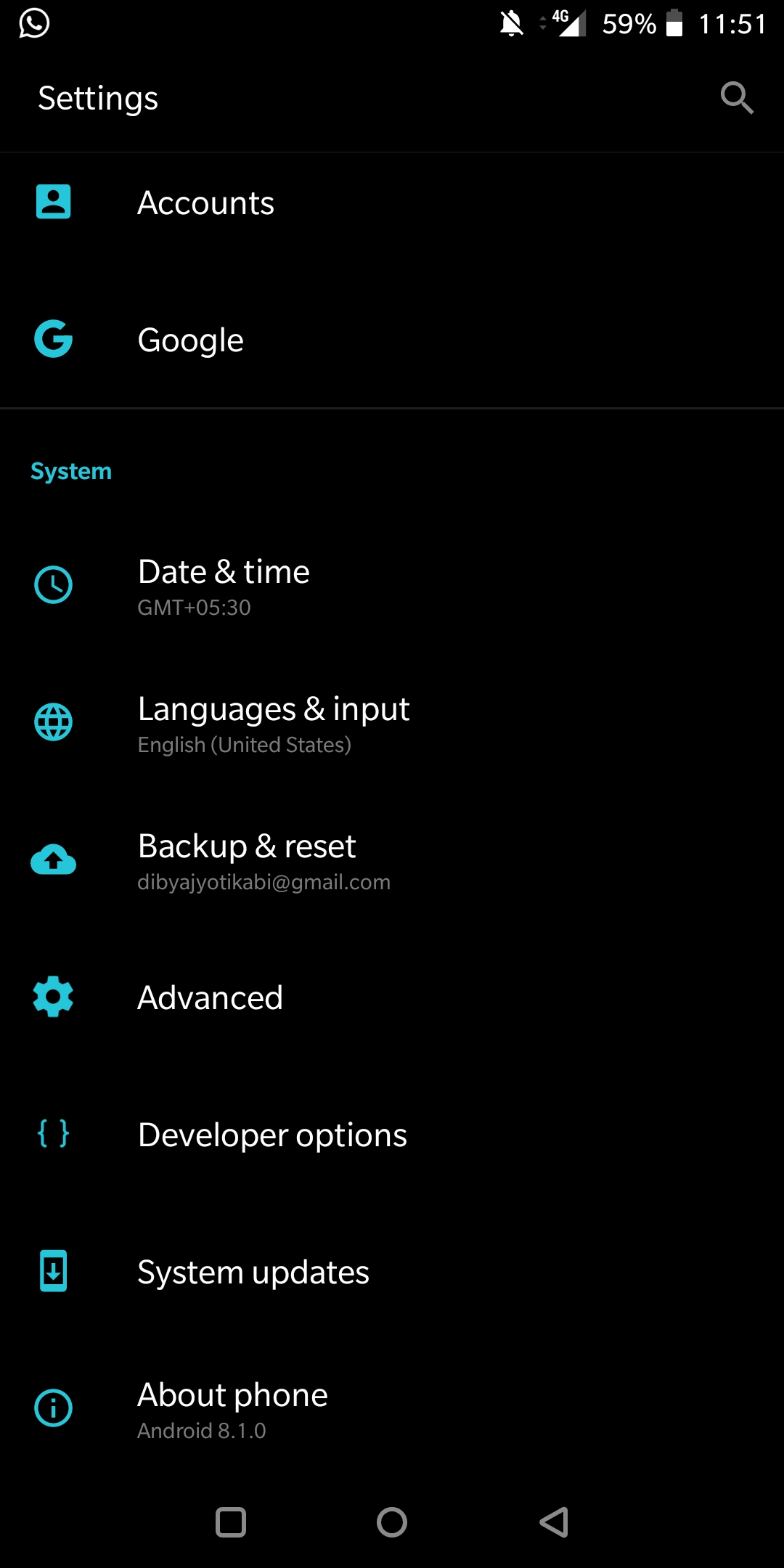 Manually Check System Software Update On OnePlus