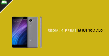Download and Install Redmi 4 Prime MIUI 10.1.1.0 Global Stable ROM