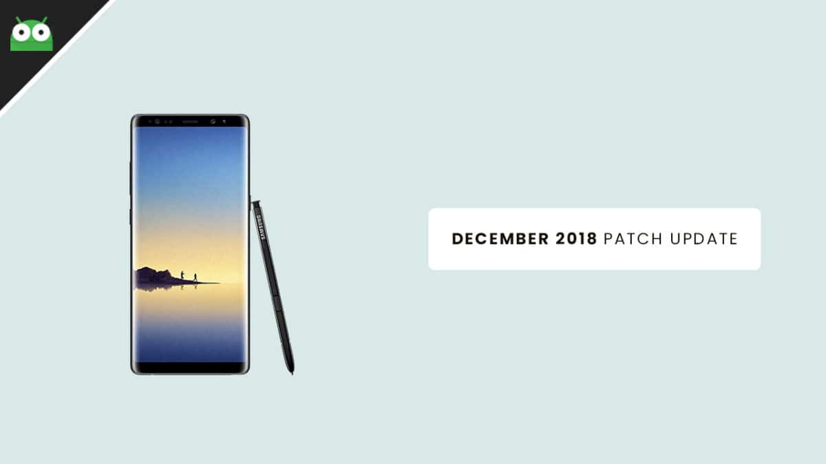 N950USQS5CRK1: Verizon Galaxy Note 8 December 2018 Security Update