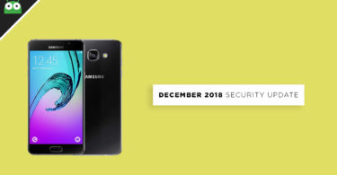Update Galaxy A5 2016 to A510FXXS7CRL6 December 2018 Security Patch