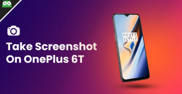 take screenshot on OnePlus 6T